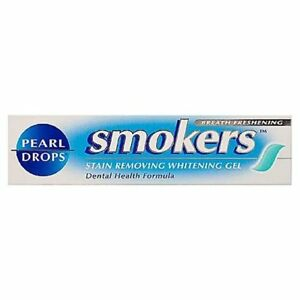 4 x Pearl Drops Smokers Stain Removing Whitening Toothpaste Gel 50ml