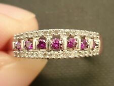 ❤ Fancy Purple and White Diamond Ring. Solid 10kt White Gold. 2g/Size 8