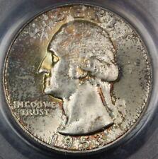 1953-S Silver Washington Quarter 25c Coin PCGS MS-65 Toned Gem BU UNC