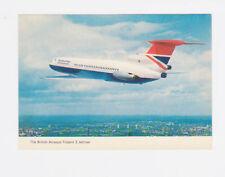 BRITISH AIRWAYS TRIDENT 3 JETLINER AEROPLANE POSTCARD