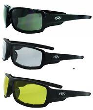 3 Italiano Plus Padded Motorcycle Riding ATV Safety Sunglasses-FREE SHIPPING!