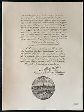 1926 - Lithographie citation de Van Cauvelaêrt, Alfred Martougin