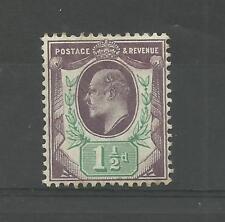 GB 1903 ED V11  1.1/2d Purple & Green   mounted mint