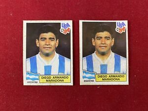Panini World Cup USA 94 Mexico Edition Helados Holanda Maradona Sticker 239