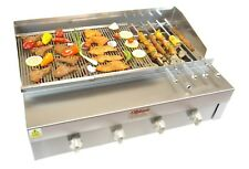 4 BURNER FLAME CHARCOAL GRILL WITH HALF GRIDDLE CHARGRILL SEEKH KEBAB SHEESH