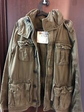 Men's Abercrombie & Fitch Olive Military Jacket Size Large