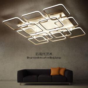 2-12 lights Modern Square Pendant Light Ceiling Fixtures Dining Room lobby Lamp