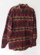 Woolrich Flannel Mens Shirt Button One Pocket Red Southwest 2X