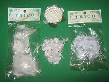 Millinery Flowers - White & Pale Blue-Silk-Bridal
