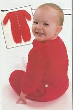 Crochet Pattern ~ Baby Long Johns One Piece Outfit ~ Instructions
