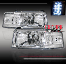 92-96 FORD F150 F250 F350 BRONCO LED CRYSTAL HEAD LIGHTS CORNER SIGNAL 93 94 95