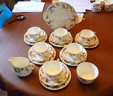 Minton Ancestral Fine China Tea Set 6 Setting with Milk Jug & Sugar bowl