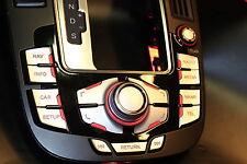MMI Aufkleber Alu-matt Doppelpfeil für Audi A4/ RS4 8K A5/S5 8T Q5 mmi 2G und 3G
