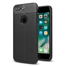 """Coque TPU Souple en Fibre de Carbone Effet Cuir NOIR Apple iPhone 7 Plus 5.5"""""""