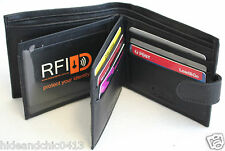 RFID  Genuine Leather Wallet. Colour: Black. Style No: 11004