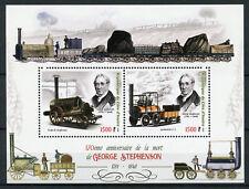 Ivory Coast 2018 MNH George Stephenson 2v M/S Steam Trains Railways Rail Stamps