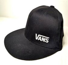 Vans Off The Wall SnapBack Cap Black Flexfit Authentic Logo Hat Adjustable Size
