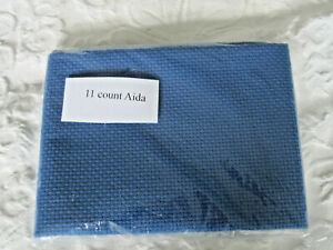 A piece of Blue 11 count Aida 30cms by 30cms (12 by 12 inches)
