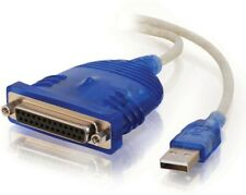 C2G 16899 USB to DB25 Parallel Printer Adapter Cable 2M