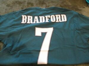 Sam Bradford #7 Philadelphia Eagles  Majestic Men's XL  T-Shirt  NWT