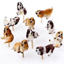 Dog w/pick 3 pc Labrador Golden Retriever Spaniel Basset Miniature Fairy Garden
