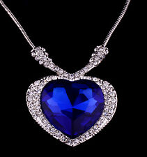 Titanic Heart Of The Ocean Necklace Blue Stunning Xmas Gift For Her Wife Women z