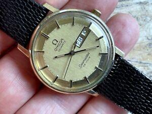 Omega Seamaster De Ville Pie Pan Original Dial Day/Date 10K GOLD FILED SERVICED