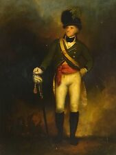 Fine 18th Century British Military Captain George Arnold Portrait Oil Painting