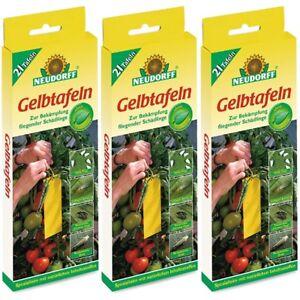 3 x 21 Stück Neudorff Gelbtafeln Sparpack Insektizidfrei kleinformatig