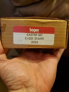 Bogen 12' Light Stand Casters-Set of Three - Open Box Never Used