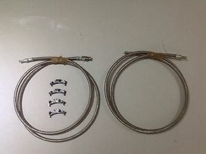 Ford Escort Rs Turbo Stainless Steel Braided Fuel Hoses x 2