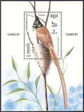 "Kampuchéa 1987 ""Capex' 87""/Aves/Paraíso cerrojillo/naturaleza 1 V m/s b8085"