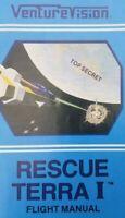 RESCUE TERRA 1 + BONUS - Atari 2600 Video Game Instruction Manual VENTUREVISION