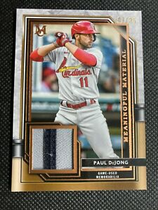 2021 Topps Museum Collection Paul DeJong /35 Meaningful Material Relic Game Used