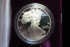 1986-S $1 Silver Eagle Proof. Box & COA.1 oz. .999 silver. No Reserve! (518182)