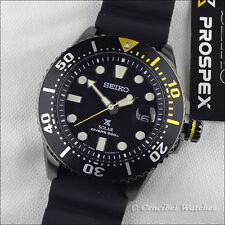 Seiko SNE441P1 Prospex Solar Diver's 200M Black PVD SNE441 J1 Rubber Strap.