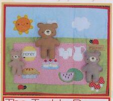 PATTERN - Teddy Bears Picnic Playset - fun toy PATTERN - Two Brown Birds