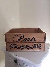 Stile in legno design Parigi & Pretty SCROLL DESIGN VINTAGE cassa di vino di storage