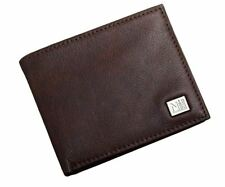 NAUTICA STERN MENS PASSCASE PEBBLED LEATHER BROWN WALLET 31NU22X030 200 GENUINE