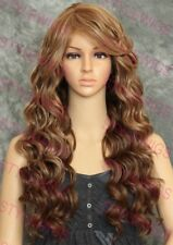 Light Brown/Dark Blonde Mix Long Layered Curly Heat Safe Synthetic Wig SAKW 8642