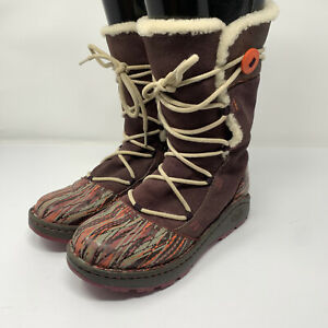 Women's Chaco Belyn Baa Vibram Leather Faux Fur Winter Boots Size 7.5