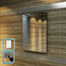 450x600mm Illumiated LED Bathroom Mirror | IP44 |TOUCH  | Vertical Hanging