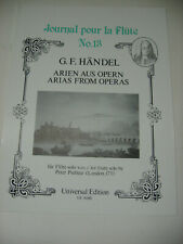 G.F Handel Arias from Operas Flute Solo Peter Prelleur Sheet Music Journal 13