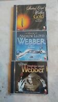 Lot of 3 Andrew Lloyd Webber, CDs the Magic of...the Genius of... Gold