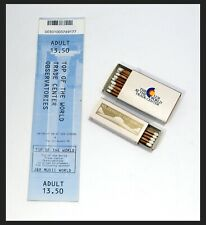 World Trade Center Observation deck Ticket 9/6/01 Matches - Windows & The Club