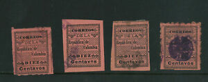 COLOMBIA 1902, LOCAL CAUCA POPAYAN PROVISIONAL, USED, ONE PERFORATED