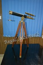 """Nautical 20.5"""" Inches Full Brass Antique Finish Telescope With Brass Stand"""
