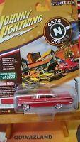 Johnny Lightning Cars N Coffee 1959 Chevy Impala 3220 pcs rouge (N17)