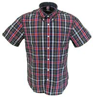 Warrior Mens Buster Multi Checked Retro Button Down Short Sleeve Shirt