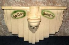Vintage Chalkware St. Anne de Beaupre Statue Mounting Base Plinth Stand Podium